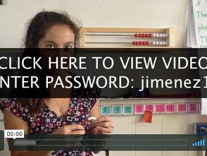 Ms. Jimenez's Kinder Math Bracelet
