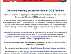 Take This Survey, Enter to WIN an iPad or Chromebook!