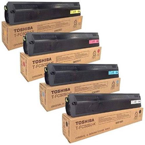 Toshiba TFC505UK TFC505UC TFC505UM TFC505UY Toner Cartridge Set