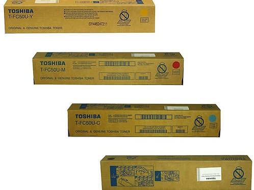 Toshiba TFC50UK TFC50UC TFC50UM TFC50UY eStudio Toner Cartridge Set