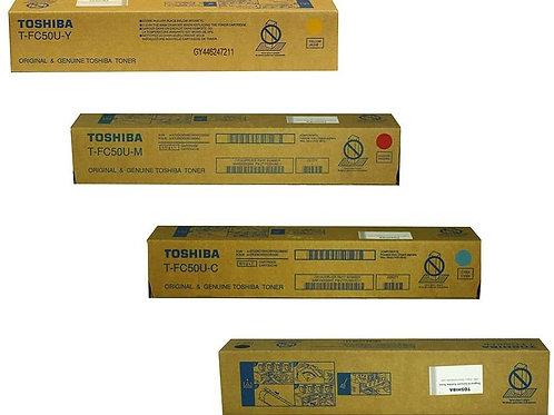 Toshiba TFC50UK TFC50UC TFC50UM TFC50UY eStudio Toner Cartridge Set
