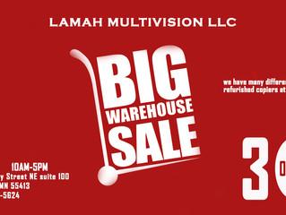 LAMAH MULTIVISION LLC Warehouse Sale!