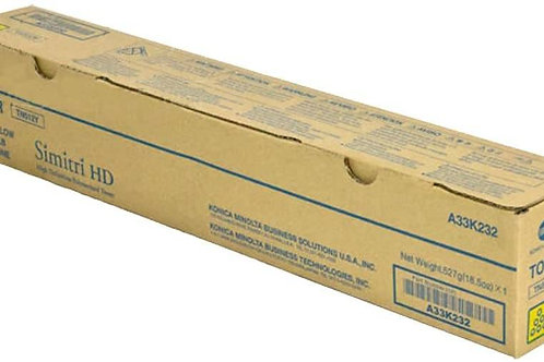 Konica Minolta TN512Y A33K232 Bizhub C454 C554 Toner Cartridge Yellow