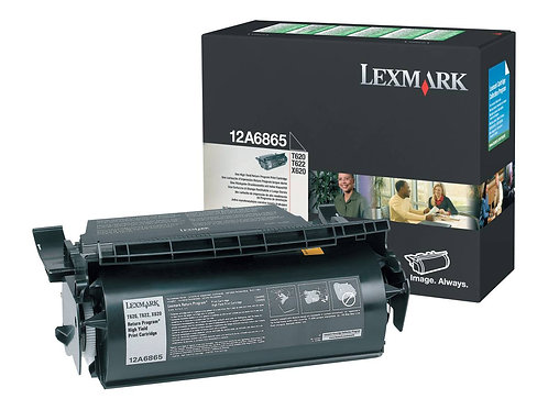Lexmark 12A6865 Black Toner Cartridge, High Yield