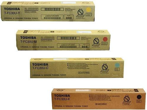 Toshiba eStudio TFC30C TFC30K TFC30M TFC30YOEM Toner Cartridge Set
