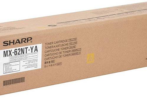 Sharp MX62NTYA Original Toner Cartridge Yellow