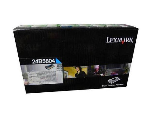 Genuine Lexmark 24B5804 Cyan Toner Cartridge