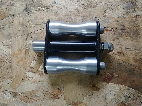 Weld on kick pedal- Aluminum, hourglass