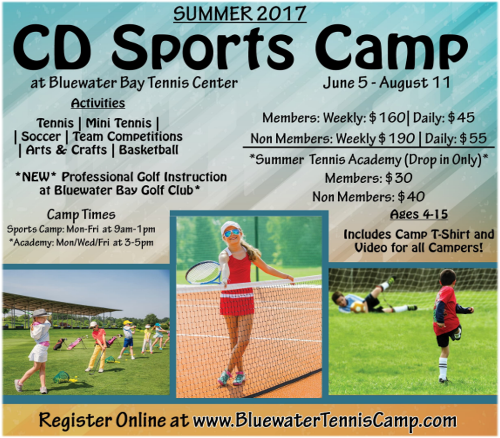 bluewater tennis sports camp 2017