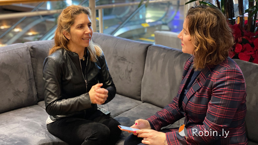Robin.ly Interview with Nuria Oliver (Ellis Co-Founder) by Margaret Laffan at NeurIPS 2019 on AI research collaboration in Europe