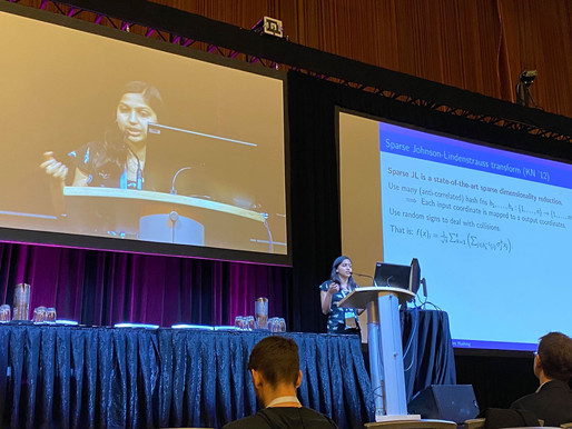[NeurIPS 2019 Highlight] Meena Jagadeesan @ Harvard: Understanding Sparse JL for Feature Hashing
