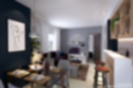 Vion Tower - 2 Bedroom Dining & Living