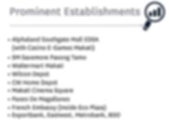 Vion Tower - Prominent Establishments