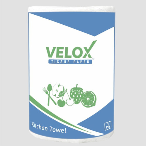 Velox Kitchen Towel Tissue Paper Roll (Pack of 6)
