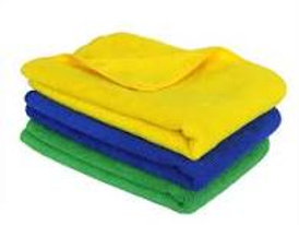 Microfiber Cleaning Cloth (40x40 cm, Multicolour) -Set of 3