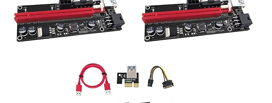 V009s Pci-e Riser Card with LED Indicators (3 Pcs)