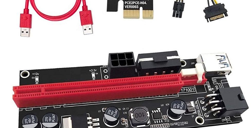 V009s Pci-e Riser Card with LED Indicators