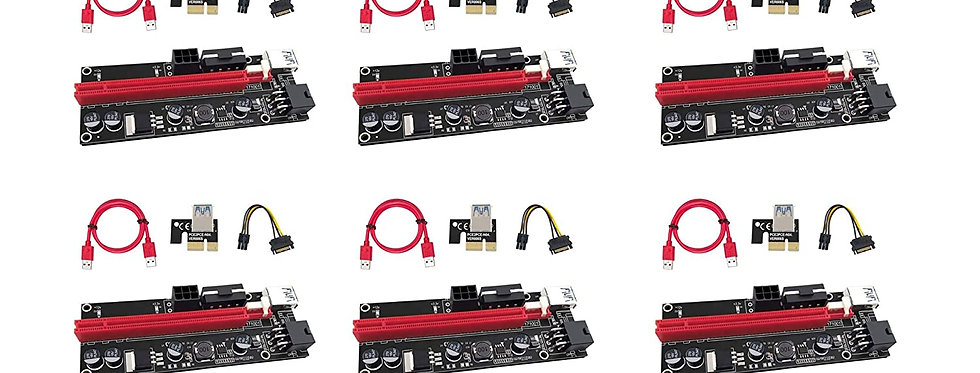 V009s Pci-e Riser Card with LED Indicators (6 Pcs)