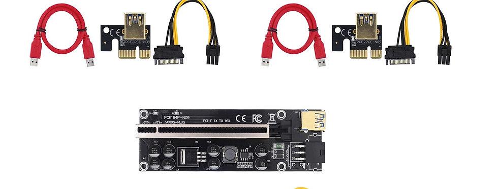 Latest 2021 V009s Plus Pci-e 16x to 1x Riser Card with LED Indicators (3 Pcs)
