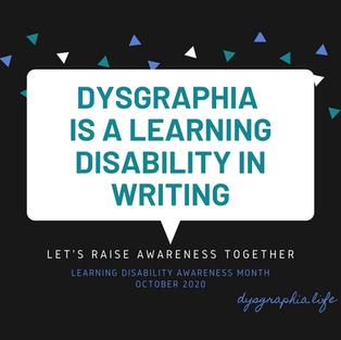 Dysgraphia Awareness 2020 (Instagram)