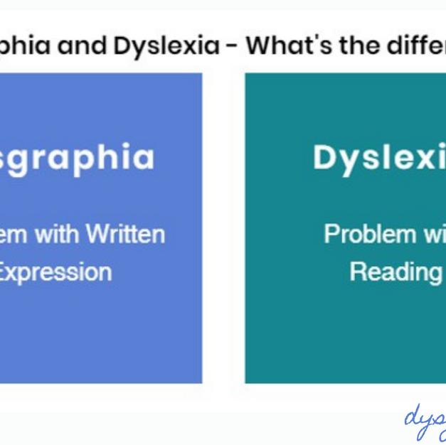Dysgraphia vs Dyslexia (Twitter)