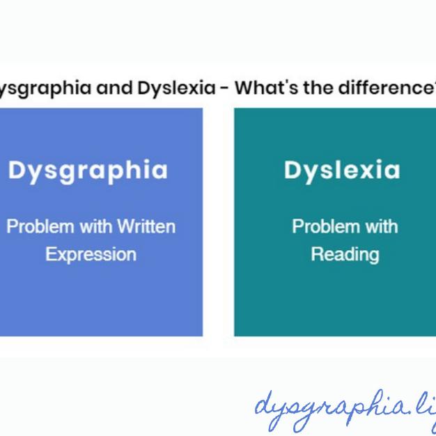 Dysgraphia vs Dyslexia (Facebook)