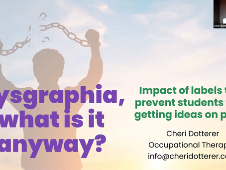 What Is Dysgraphia Anyway?