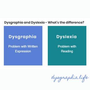 Dysgraphia vs Dyslexia (Instagram)