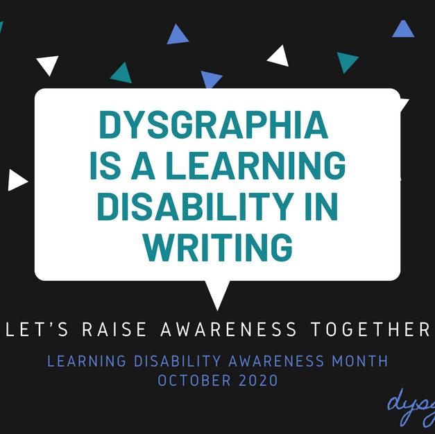 Dysgraphia Awareness 2020 (Twitter)