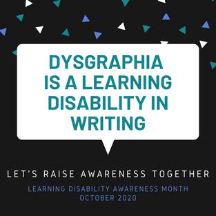 Dysgraphia Awareness 2020 (Pinterest)