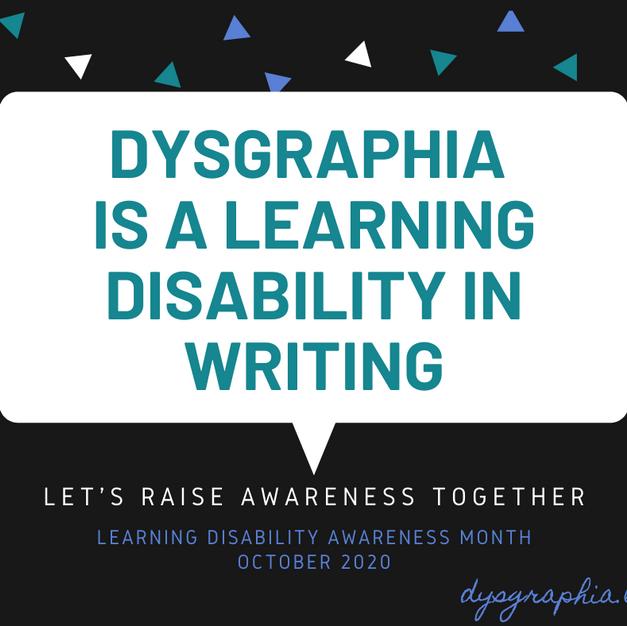 Dysgraphia Awareness 2020 (Facebook)