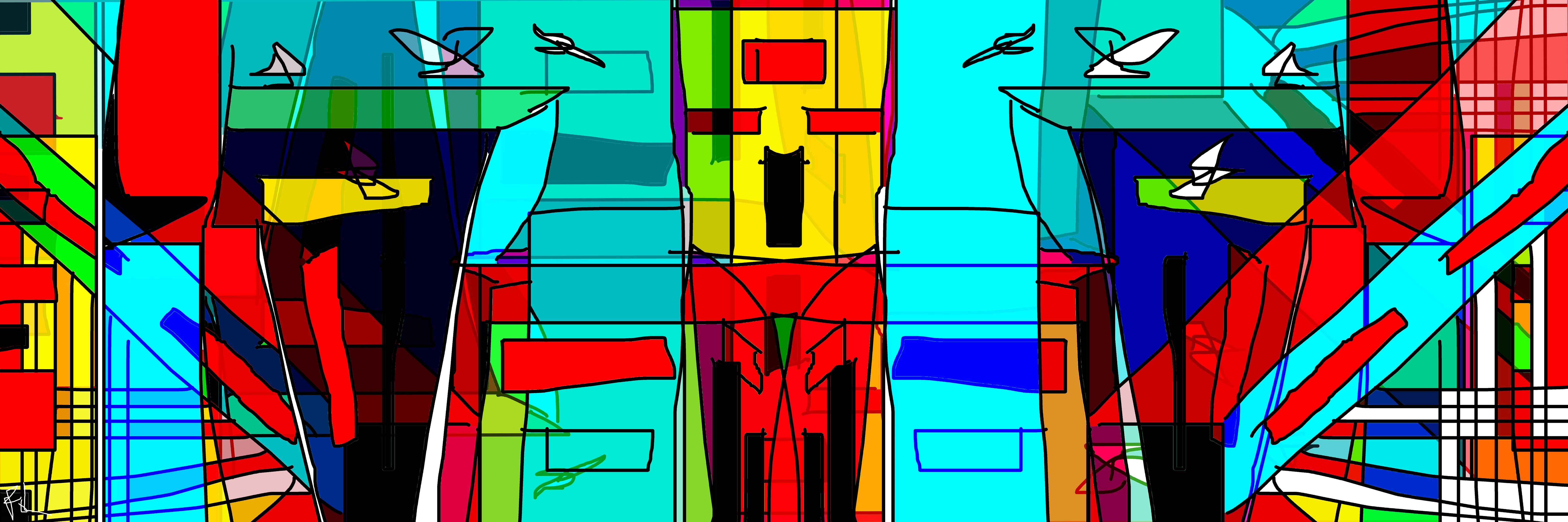 Robot ville  120x40   ©FOL