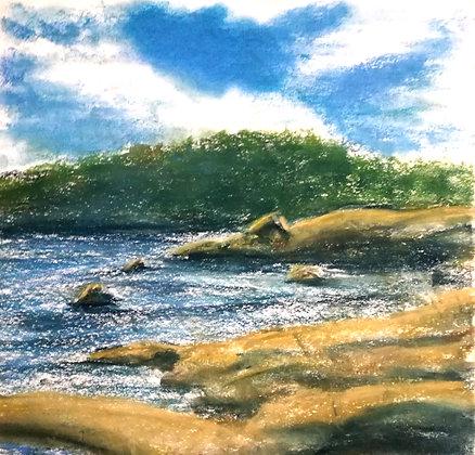 The shores of Flautangen, Print