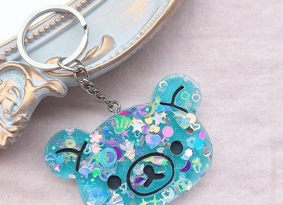 Sanrio Bear Rilakkuma Glitter Bomb Keychain