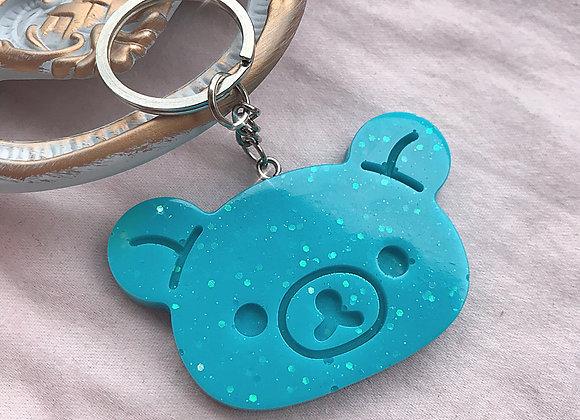 Sanrio Style Kawaii Glitter Bear Keychain