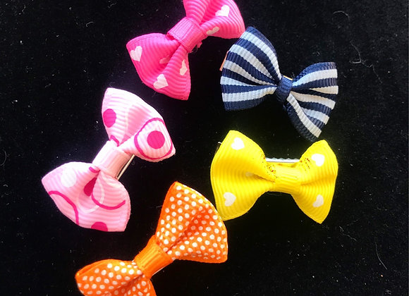 Kawaii Hair Clip Bows (Set of 5)