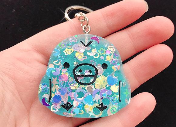 Sanrio Kiiroitori Baby Bird Glitter Keychain