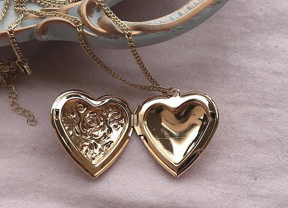 Rose Heart Locket