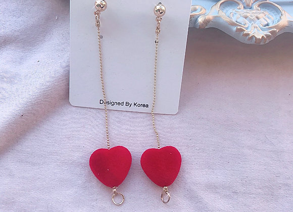 My Heart's Fuzzy Dangle Earrings