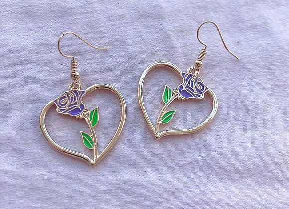 Sweetheart Rose Dangle Earrings