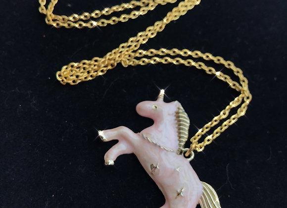Cotton Candy Unicorn Necklace