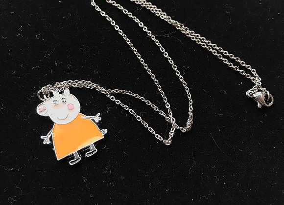 Peppa Pig Pendant Necklace