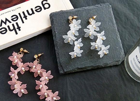 Floating Cherry Blossoms Dangle Earrings
