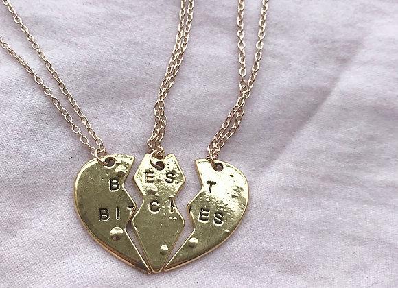Best Bitches Set of 3 Friendship Necklaces