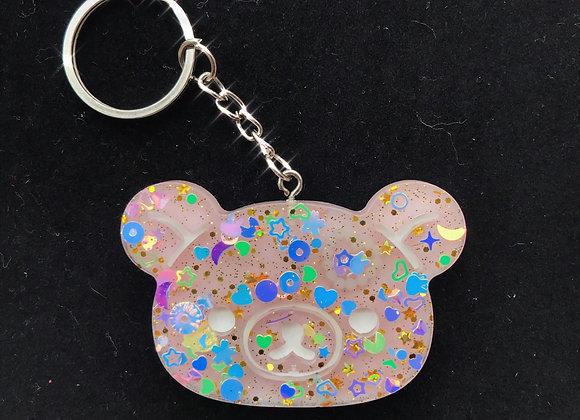 Glitter Bomb Sanrio Bear Keychain