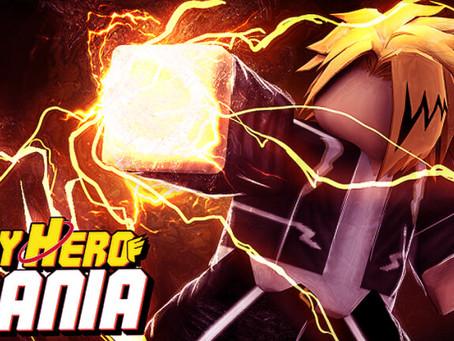 Roblox My Hero Mania Codes - June 2021