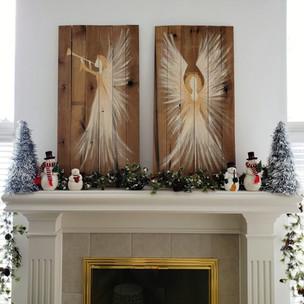 Christas Angels on Wood