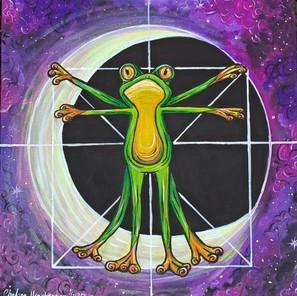 Vitruvian Frog Canvas