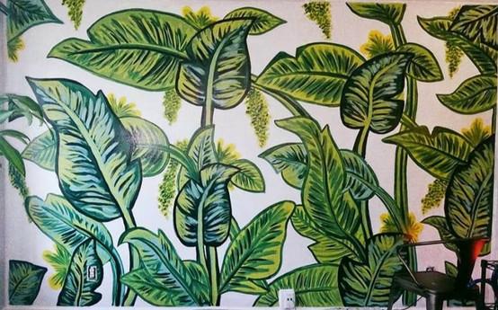 Banana Leaf Wall