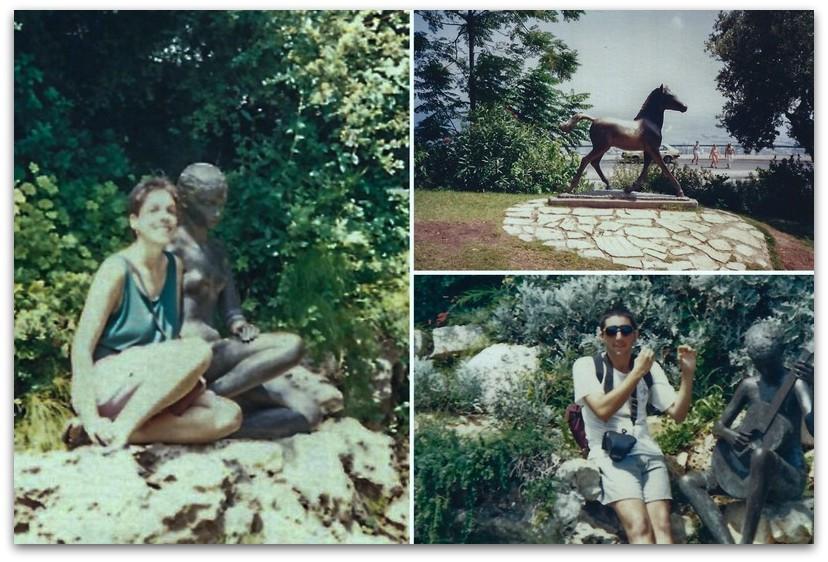 תמונות ישנות מהאלבום - גן הפסלים בחיפה - אורסולה מלבין - טיול בחיפה